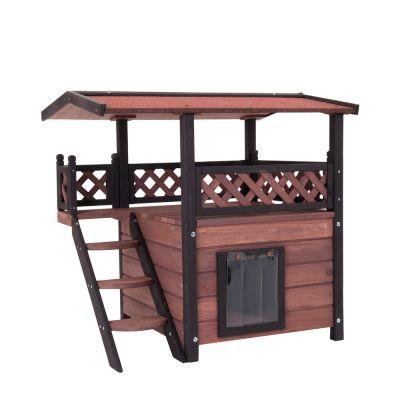 Dřevěný domek pro kočky