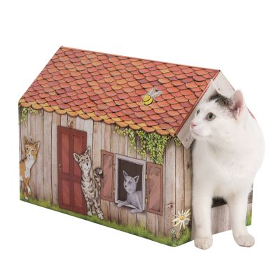 domek pro kočky s kočkou
