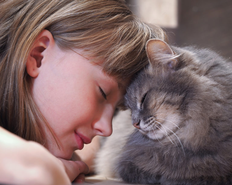 holčička s kočkou